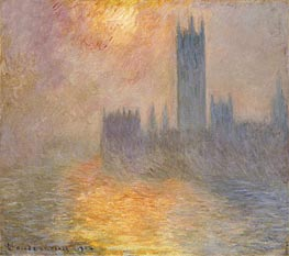 Monet | The Houses of Parliament, Sunset, 1904 | Giclée Canvas Print