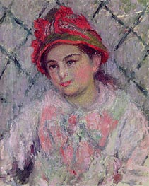 Monet | Portrait of Blanche Hoschede as a Young Girl, c.1880 | Giclée Canvas Print