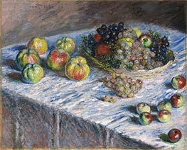 Monet | Apples and Grapes, 1880 | Giclée Canvas Print