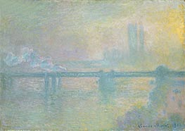 Monet | Charing Cross Bridge, London, 1901 | Giclée Canvas Print