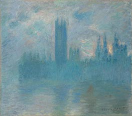 Monet | Houses of Parliament, London, c.1900/01 | Giclée Canvas Print