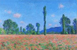 Monet | Poppy Field, Giverny, 1891 | Giclée Canvas Print