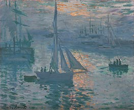 Monet | Sunrise (Marine) | Giclée Canvas Print