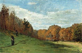 Monet | Woodgatherers at the Edge of the Forest, c.1863 | Giclée Canvas Print