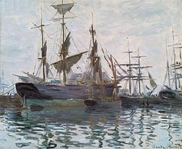 Monet | Ships in a Harbor | Giclée Canvas Print