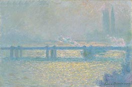 Monet | Charing Cross Bridge (Overcast Day) | Giclée Canvas Print