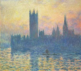 Monet | The Houses of Parliament, Sunset | Giclée Canvas Print