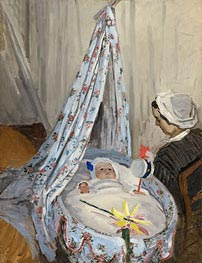 Monet | The Cradle - Camille with the Artist's Son Jean | Giclée Canvas Print