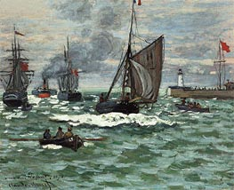 Monet | The Entrance to the Port of Le Havre, 1870 | Giclée Canvas Print