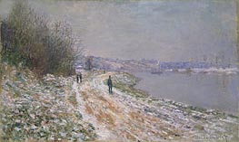 Monet | Tow-Path at Argenteuil | Giclée Canvas Print