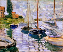 Monet | Sailboats on the Seine | Giclée Canvas Print