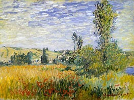 Monet | Landscape at Vetheuil | Giclée Canvas Print