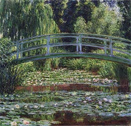 Monet | The Japanese Footbridge and the Water Lily Pool, Giverny | Giclée Canvas Print