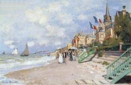 Monet | The Beach at Trouville | Giclée Canvas Print