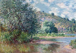 Monet | Landscape at Port-Villez, 1885 | Giclée Canvas Print