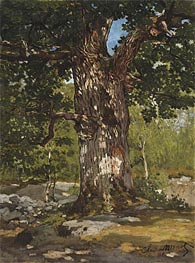 Monet | The Oak at Bas-Breau, Le Bodmer | Giclée Canvas Print