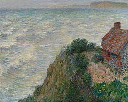 Monet | Fisherman's House at Petit Ailly, 1882 | Giclée Canvas Print