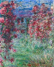 Monet | The House among the Roses, 1919 | Giclée Canvas Print