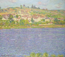 Monet | Vetheuil, Effect of Sun, 1901 | Giclée Canvas Print