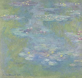 Monet | Nympheas (Water Lilies), 1908 | Giclée Canvas Print