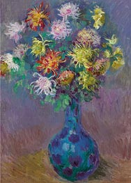 Monet | Vase of Chrysanthemums, 1882 | Giclée Canvas Print