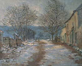 Monet | Effect of Snow, Limetz, 1886 | Giclée Canvas Print
