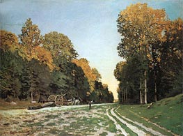 Monet | The Road from Chailly to Fontainebleau | Giclée Canvas Print
