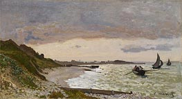 Monet | The Seashore at Sainte-Adresse | Giclée Canvas Print
