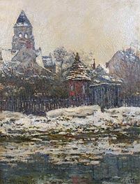 Monet | The Church at Vetheuil, Winter, 1879 | Giclée Canvas Print