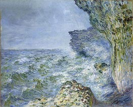 Monet | The Sea at Fecamp, 1881 | Giclée Canvas Print