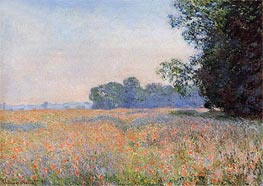 Monet | Field of Oats with Poppies | Giclée Canvas Print