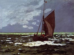 Monet | Stormy Seascape | Giclée Canvas Print