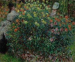 Monet | Women Amidst Flowers | Giclée Canvas Print