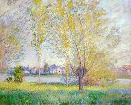 Monet | Willows at Vetheuil, 1880 | Giclée Canvas Print