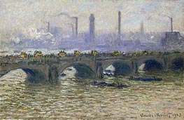 Monet | Waterloo Bridge - Overcast Skies | Giclée Canvas Print
