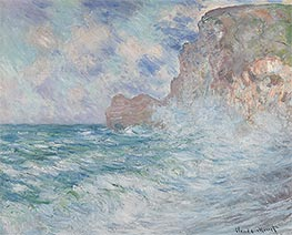 Monet | Etretat, Cliff and Upstream Gate | Giclée Canvas Print