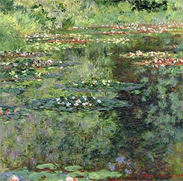 Monet | The Waterlily Pond | Giclée Canvas Print