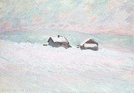 Monet | The Houses in the Snow, Norway, 1895 | Giclée Canvas Print