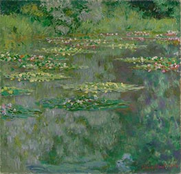 Monet | Waterlilies or The Water Lily Pond (Nympheas), 1904 | Giclée Canvas Print