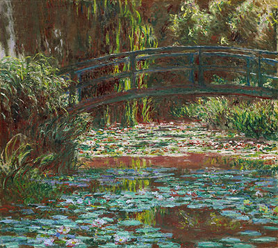 Japanese Bridge at Giverny (Water Lily Pond), 1900 | Monet | Giclée Canvas Print