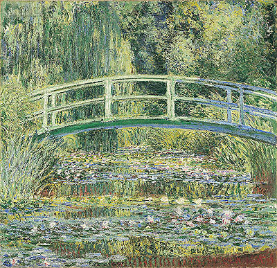 Water Lily Pond and Japanese Bridge, 1899 | Monet | Painting Reproduction