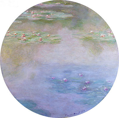 Water Lilies, Nympheas, 1907 | Monet | Painting Reproduction