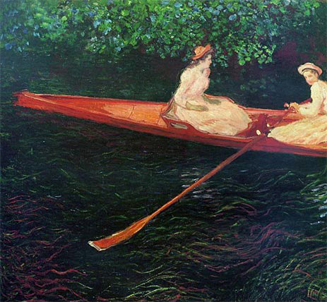 Boating on the River Epte, 1890 | Monet | Giclée Canvas Print
