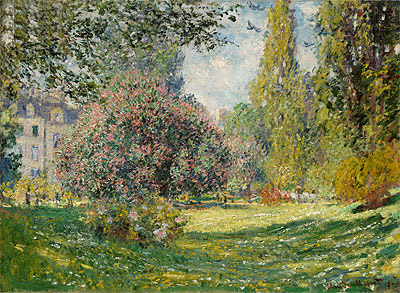Landscape: The Parc Monceau, Paris, 1876 | Monet | Painting Reproduction