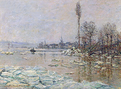 Le debacle - The Ice-Flows (Breakup of Ice), 1880 | Monet | Giclée Canvas Print