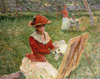 Blanche Hoschede Painting, 1892 | Monet | Painting Reproduction