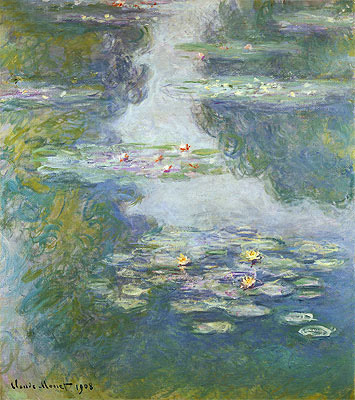 Water Lilies, Nympheas, 1908 | Monet | Giclée Canvas Print