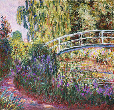 The Japanese Bridge, Pond with Water Lilies, 1900   Monet   Painting Reproduction