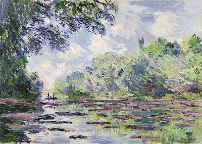 The Seine at Giverny, 1885 | Monet | Giclée Canvas Print