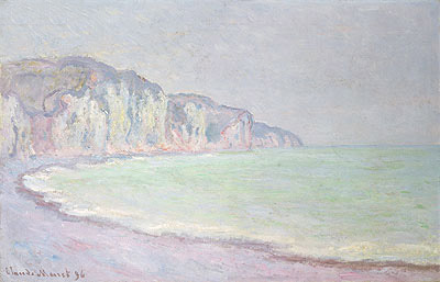 Cliffs at Pourville, 1896 | Monet | Giclée Canvas Print